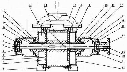 SK-6/12/20/30/42/60/85/120水环泵结构图